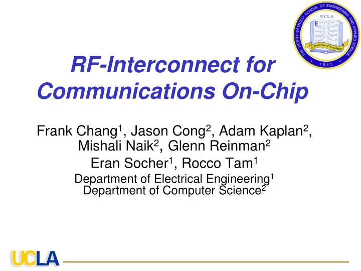 rf interconnect for communications on chip n.