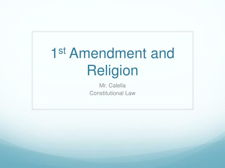 1 st amendment and religion n.