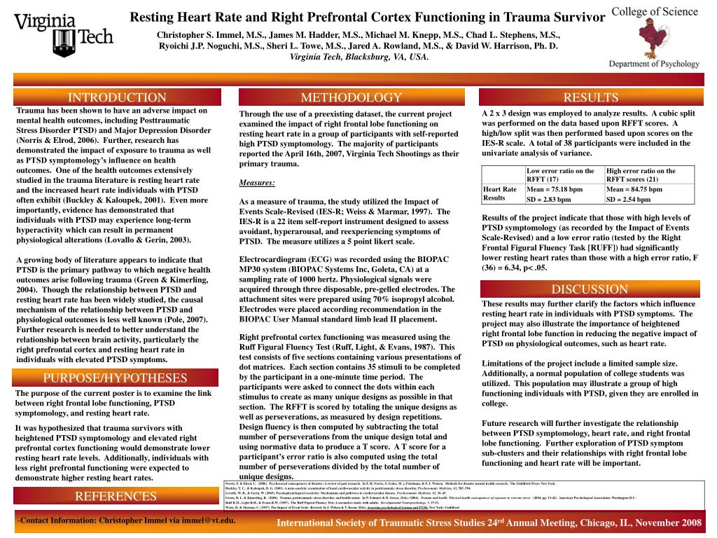 PPT - Resting Heart Rate and Right Prefrontal Cortex