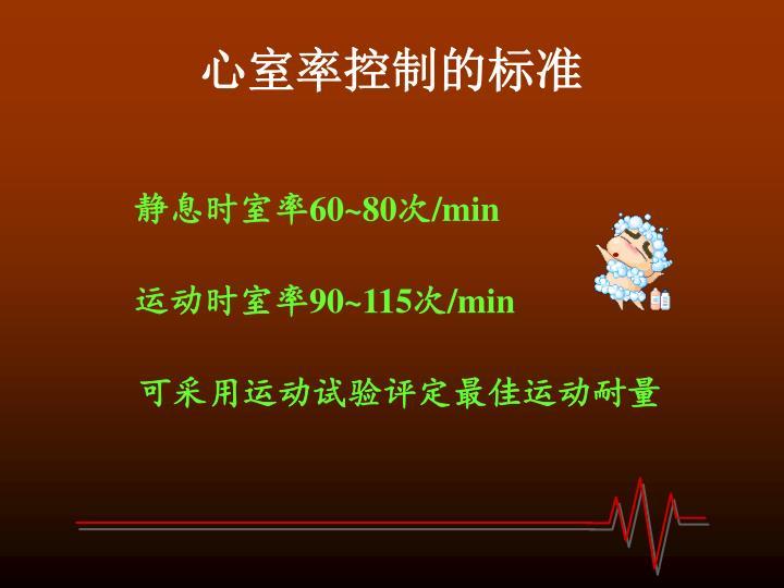 心室率控制的标准