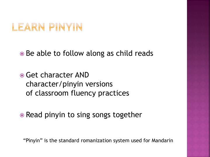 Learn pinyin