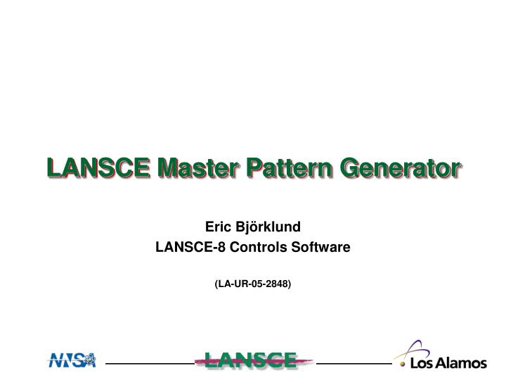 eric bj rklund lansce 8 controls software la ur 05 2848 n.