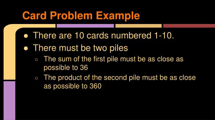Card Problem Example