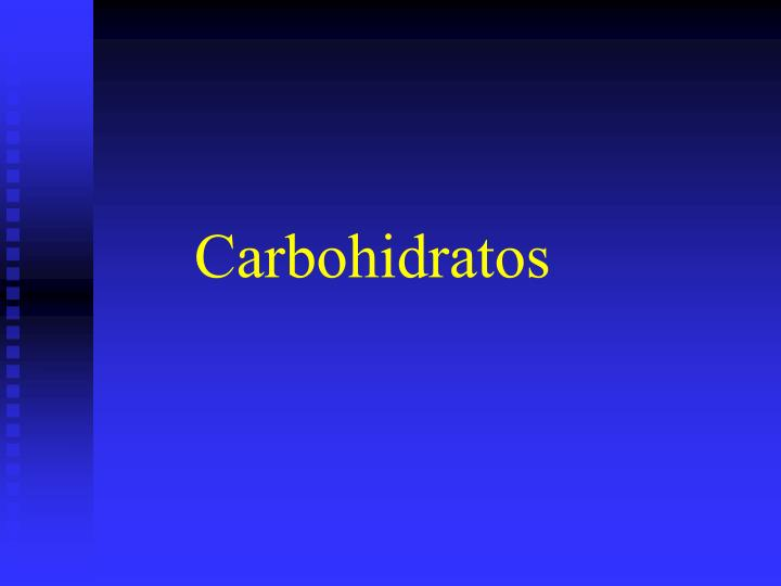 carbohidratos n.