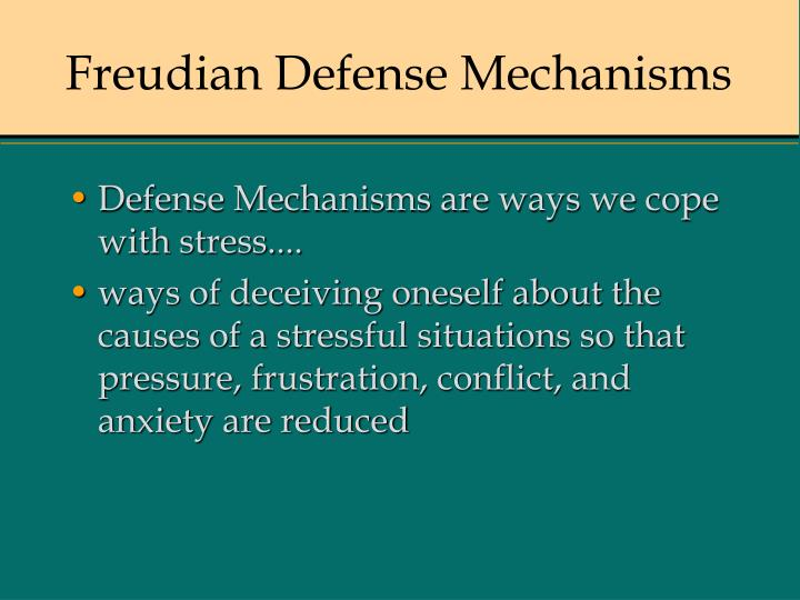 Ppt Freudian Defense Mechanisms Powerpoint Presentation Free