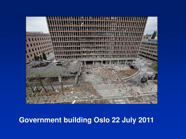 Government building Oslo 22 July 2011