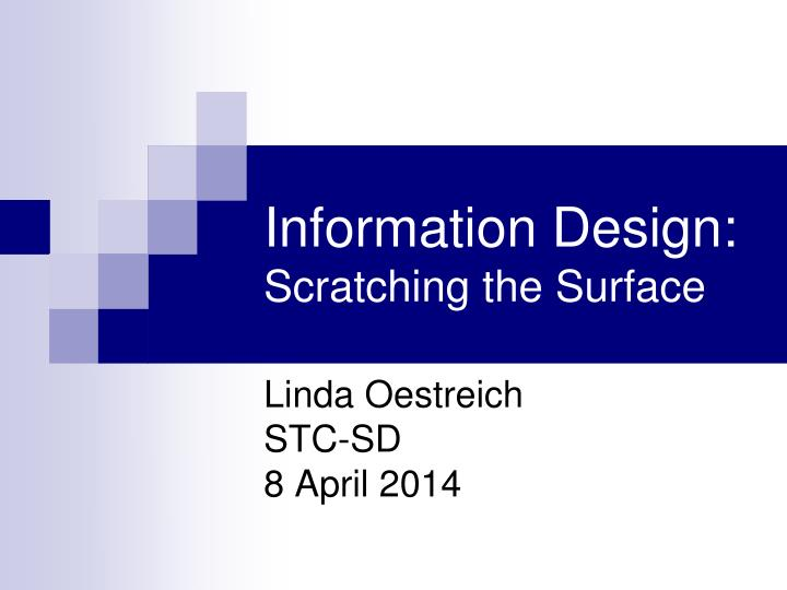 information design scratching the surface n.
