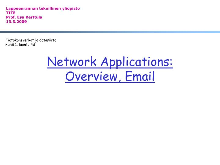 network applications overview email n.