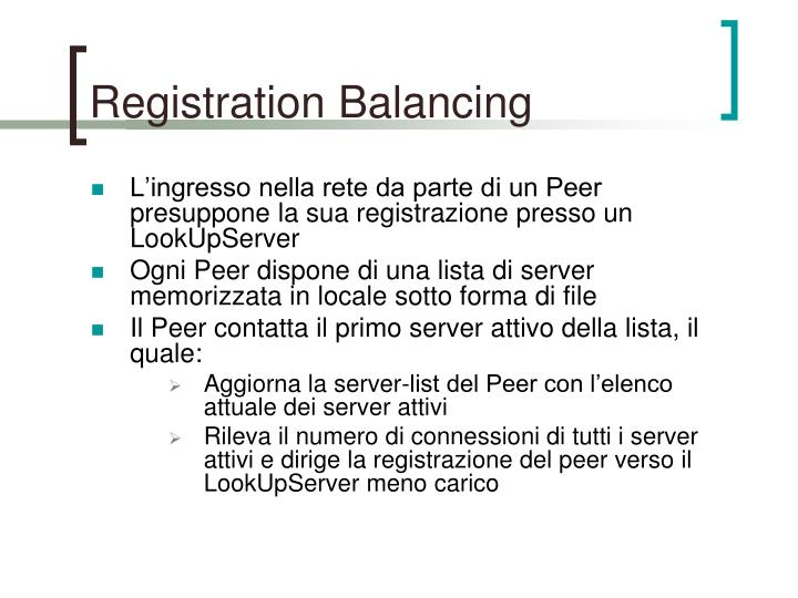 Registration Balancing