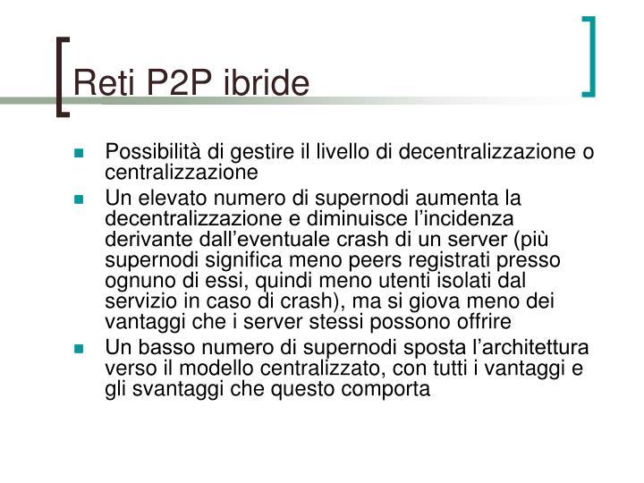 Reti P2P ibride