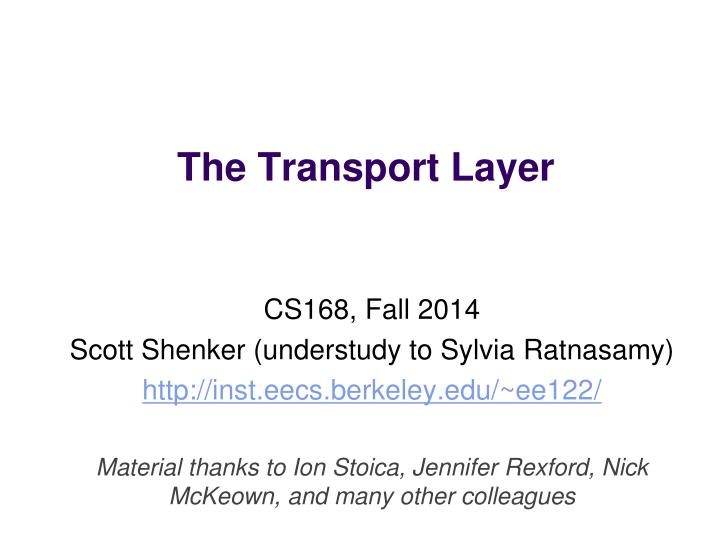 the transport layer n.