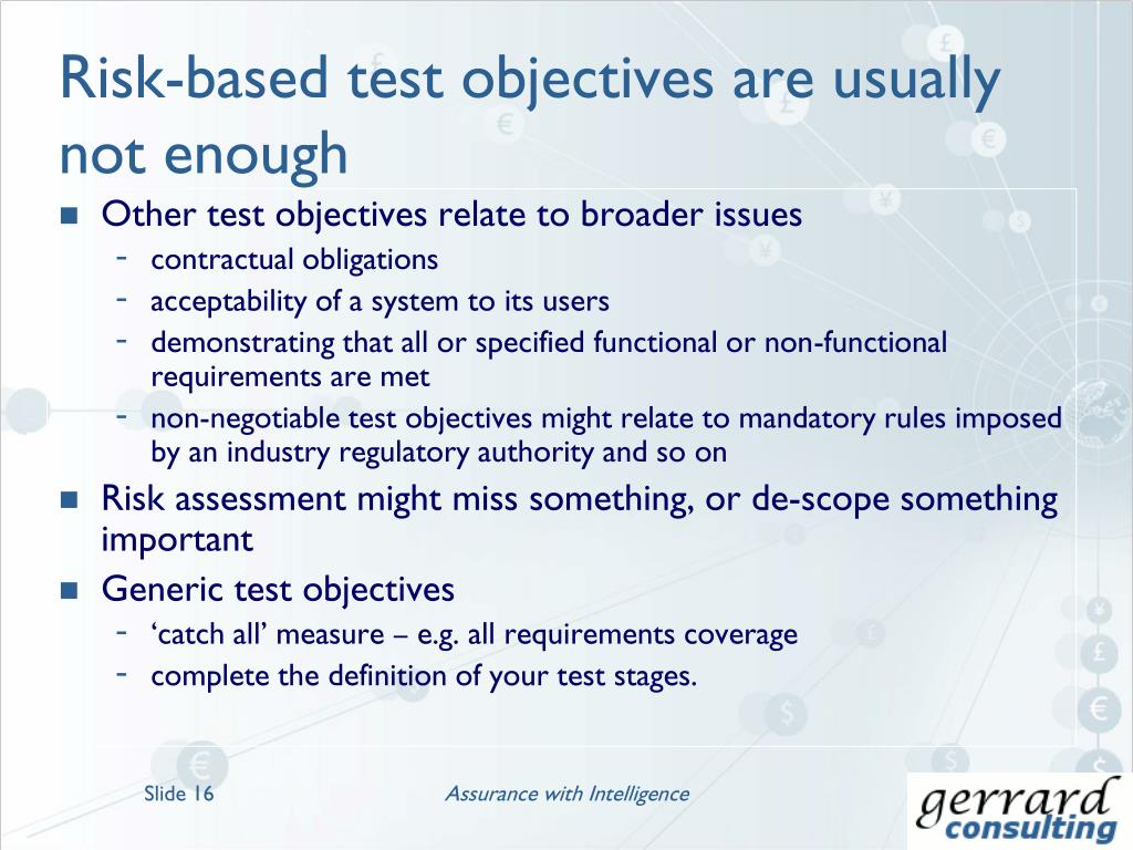 PPT - Risk-Based Testing – An Overview PowerPoint Presentation - ID