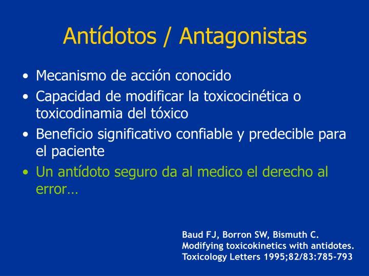 Antídotos / Antagonistas