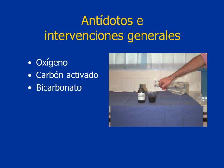 Antídotos e