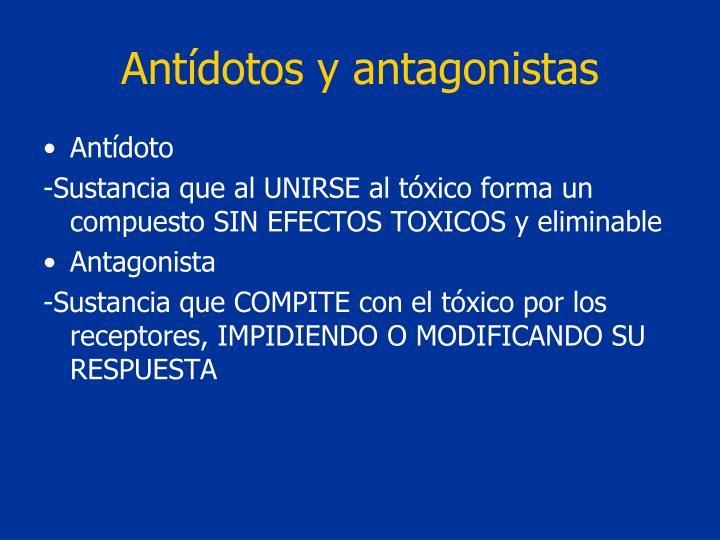 Antídotos y antagonistas