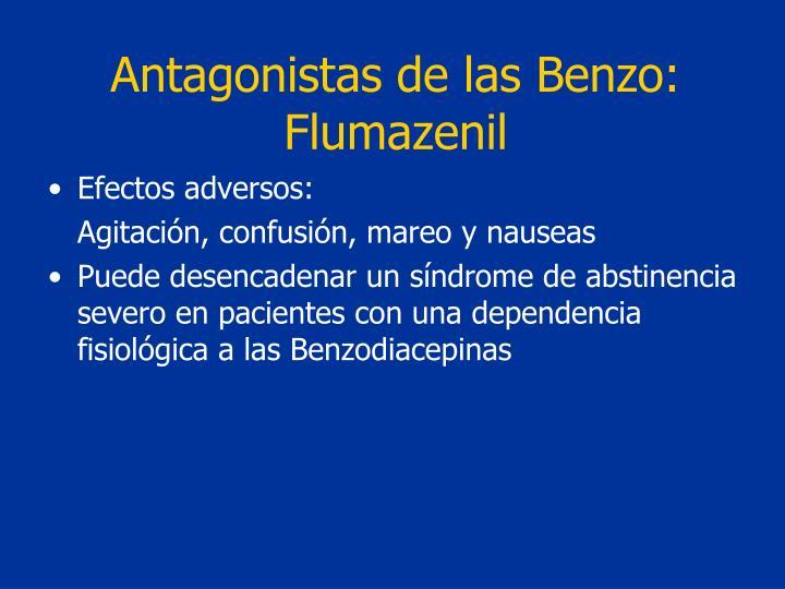 Antagonistas de las Benzo: Flumazenil
