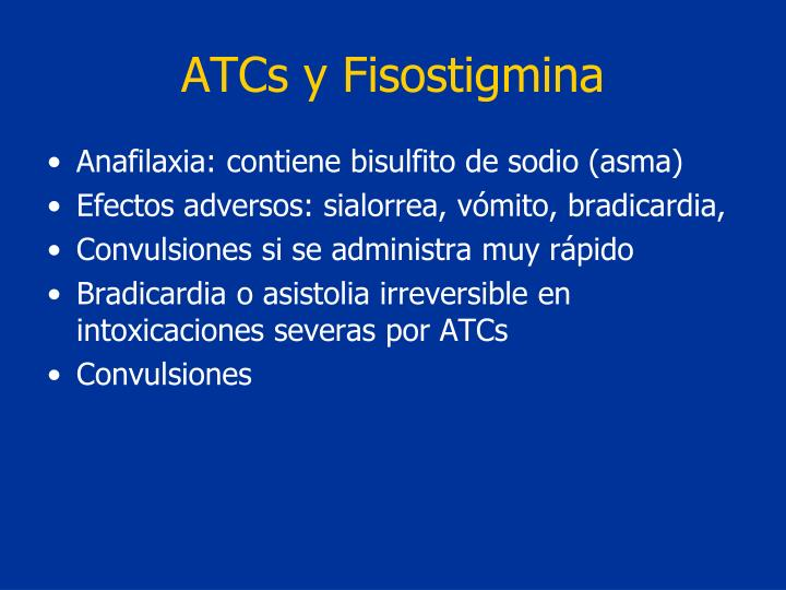ATCs y Fisostigmina