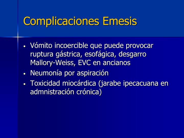 Complicaciones Emesis