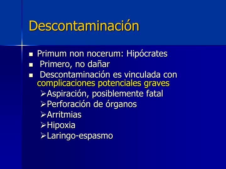 Descontaminación