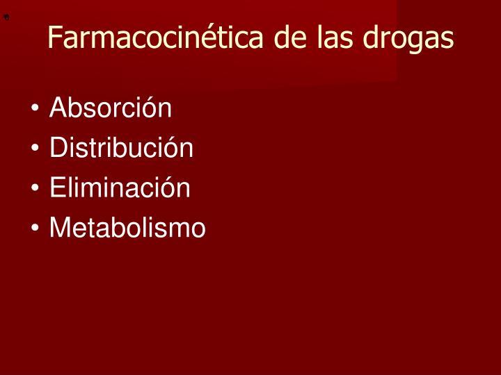 Farmacocinética de las drogas