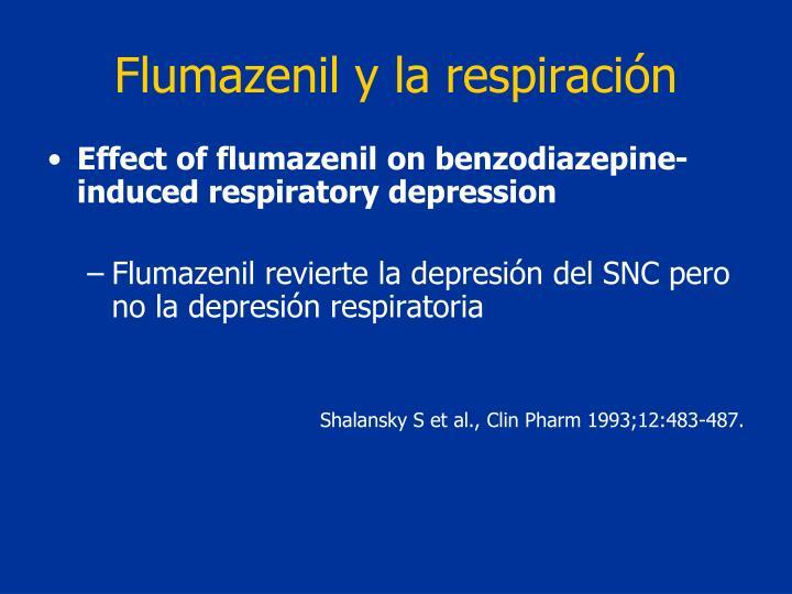Flumazenil y la respiración