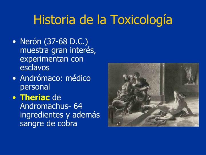 Historia de la Toxicología
