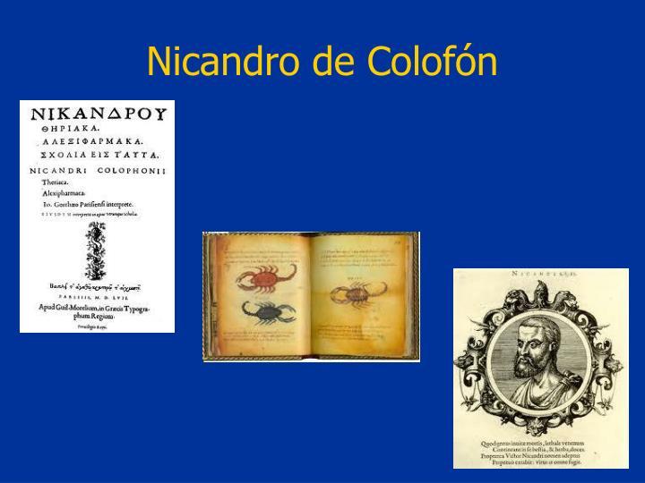 Nicandro de Colofón