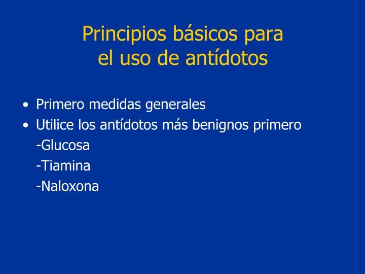 Principios básicos para