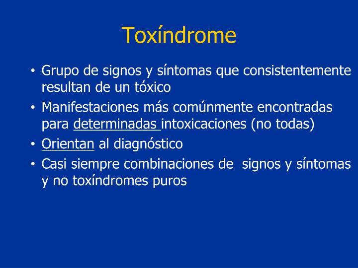 Tox ndrome