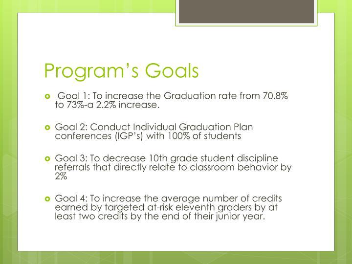 Program s goals