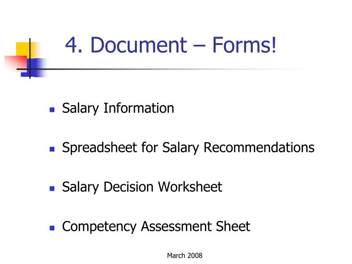 4. Document – Forms!