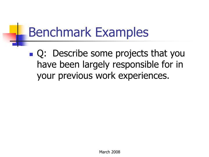 Benchmark Examples