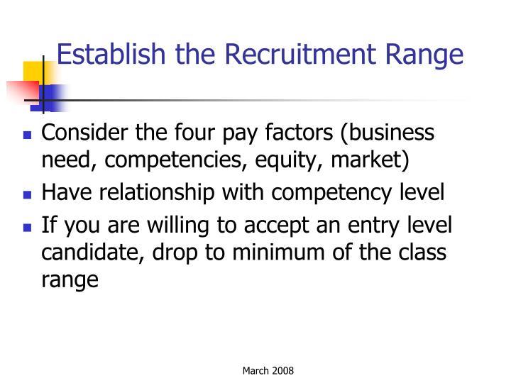Establish the Recruitment Range
