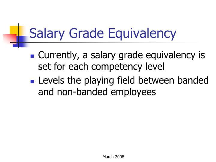 Salary Grade Equivalency