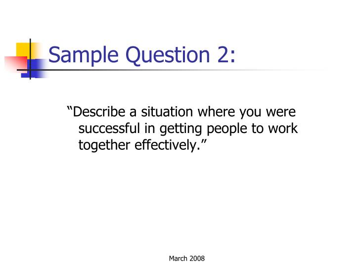 Sample Question 2: