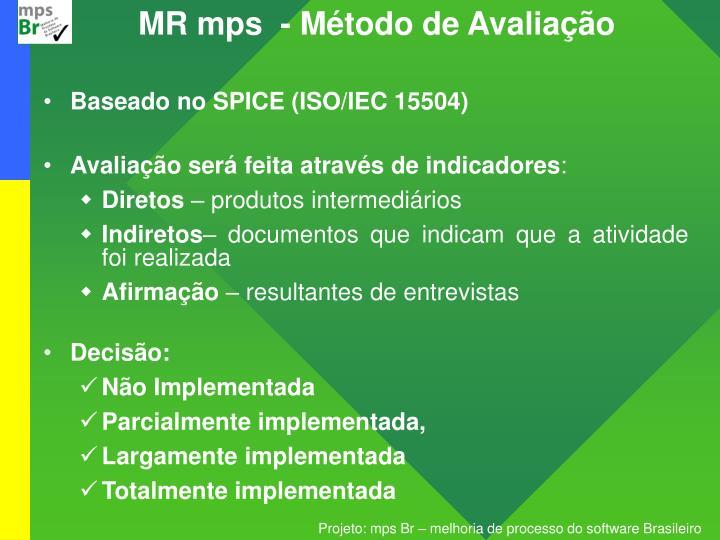 MR mps  - Método de Avaliação