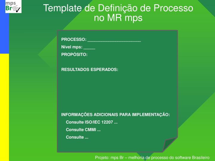 Template de Definição de Processo