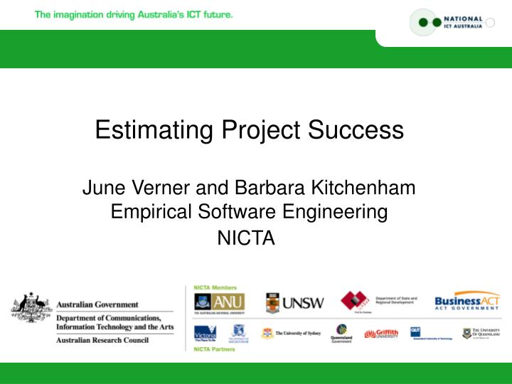 estimating project success n.