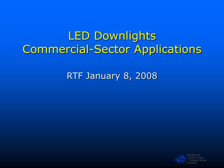 led downlights commercial sector applications n.