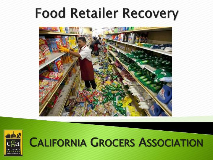 food retailer recovery n.