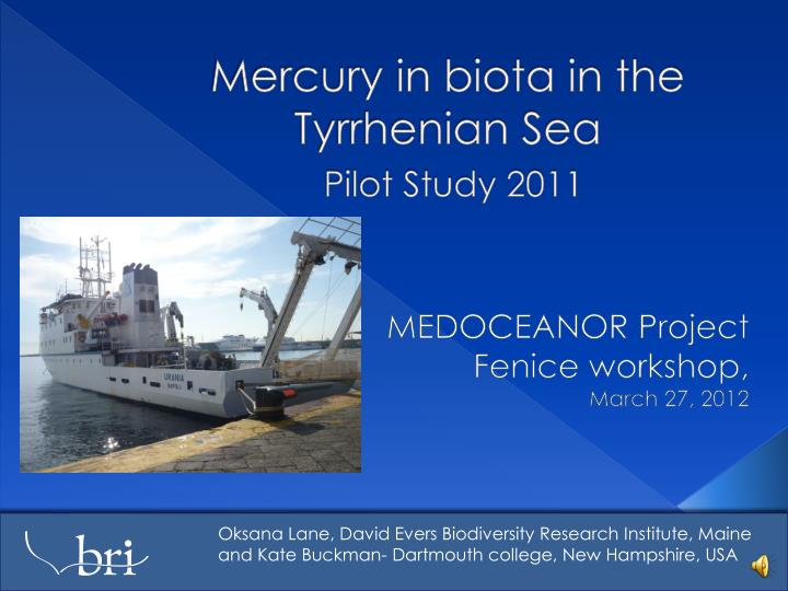 mercury in biota in the tyrrhenian sea pilot study 2011 n.
