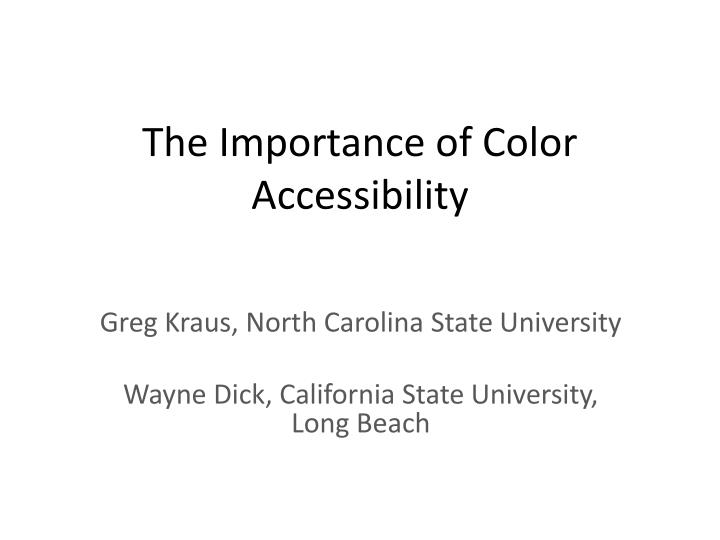 the importance of color accessibility n.