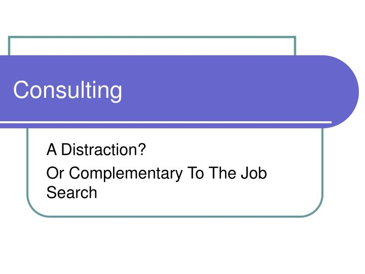 consulting n.