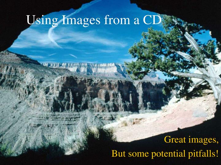 using images from a cd n.