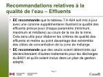 recommandations relatives la qualit de l eau effluents1