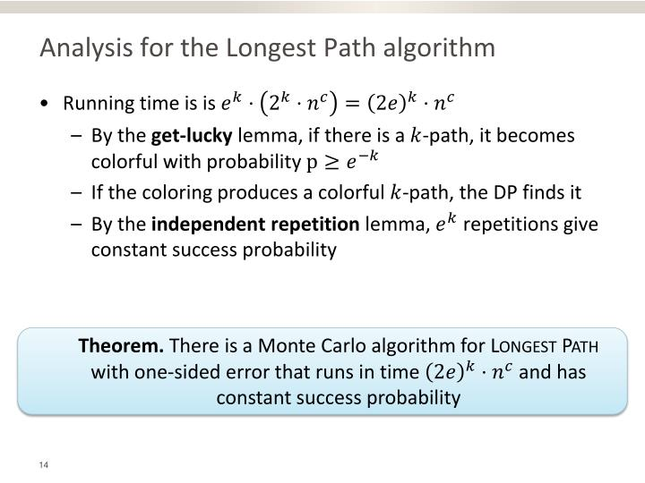 Analysis for the Longest Path algorithm
