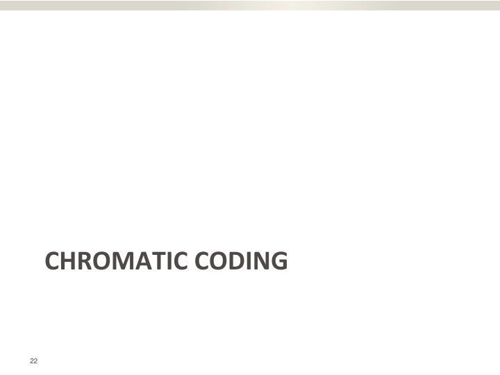 Chromatic coding