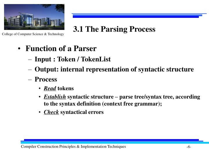 3.1 The Parsing Process