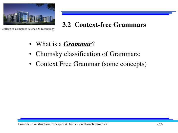 3.2  Context-free Grammars