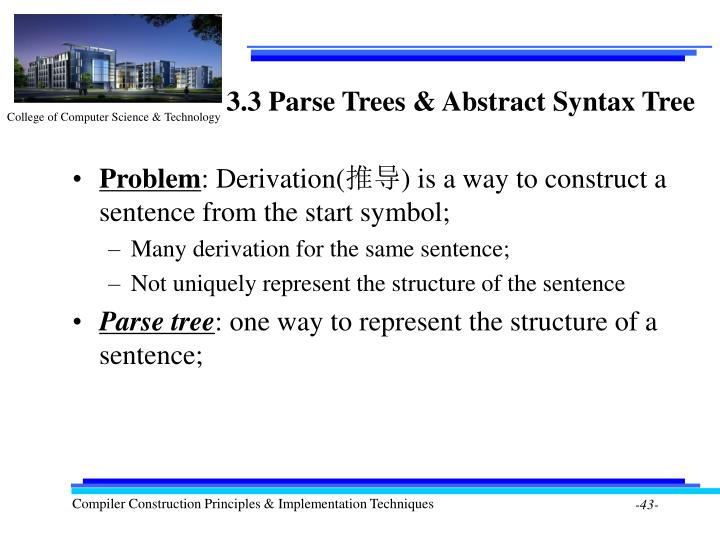 3.3 Parse Trees & Abstract Syntax Tree